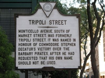 Tripoli Street Marker image. Click for full size.