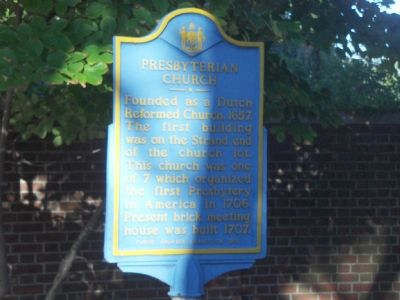 Presbyterian Church Marker image. Click for full size.
