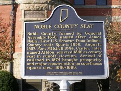 Noble County Courthouse Marker image. Click for full size.