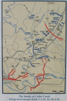 Battle of Cedar Creek Map image, Touch for more information