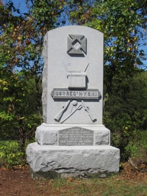The 128th New York Volunteer Regiment Monument image. Click for full size.