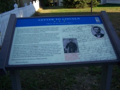 Letter to Lincoln Marker image. Click for full size.