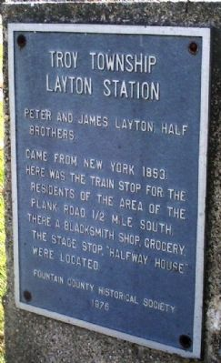 Layton Station (Troy Township) Marker image. Click for full size.