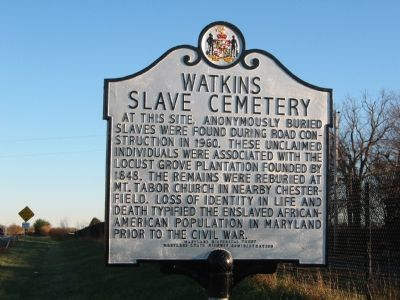 Watkins Slave Cemetary Marker image. Click for full size.