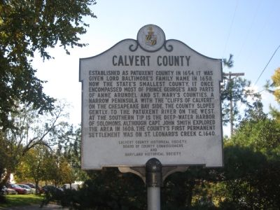 Calvert County Marker image. Click for full size.