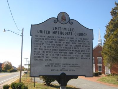 Smithville United Methodist Church Marker image. Click for full size.