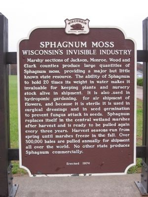 Sphagnum Moss Marker image. Click for full size.