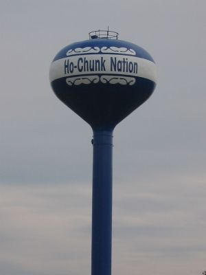 Ho-Chunk Nation Water Tower image. Click for full size.
