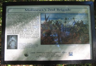 Molineux's 2nd Brigade Marker image. Click for full size.