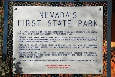 Nevada's First State Park Marker image. Click for full size.