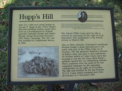 Hupp's Hill Marker image. Click for full size.