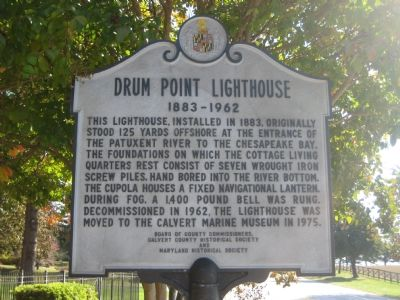 Drum Point Lighthouse Marker image. Click for full size.
