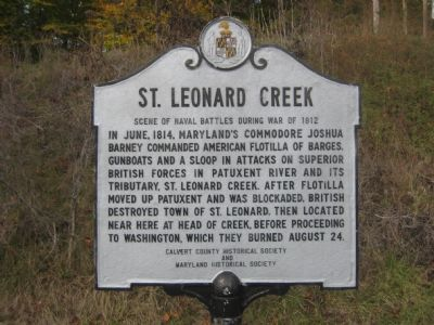 St. Leonard Creek Marker image. Click for full size.