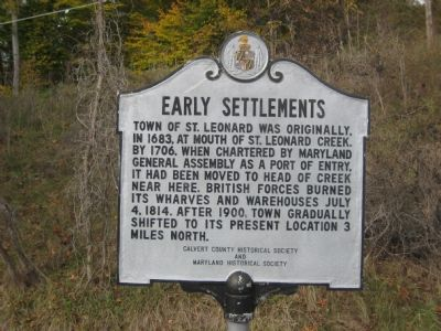 Early Settlements Marker image. Click for full size.