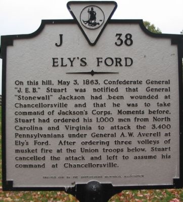 Ely's Ford Marker image. Click for full size.