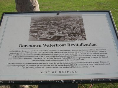 Downtown Waterfront Revitalization Marker image. Click for full size.