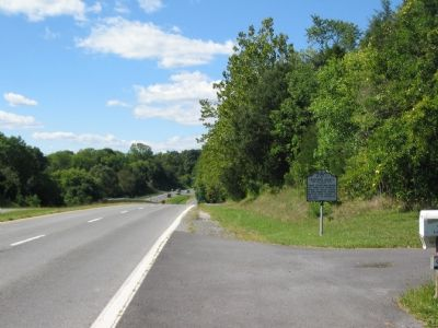 Marker aside the West Bound Lane of John Mosby Highway image. Click for full size.