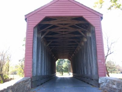 Interior of Loy's Station Covered Bridge image. Click for full size.