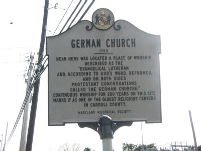 German Church Marker image. Click for full size.