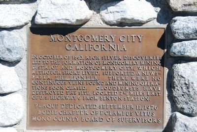 Montgomery City California Marker image. Click for full size.