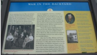 War in the Backyard Marker image. Click for full size.