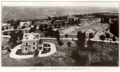 Vintage photo of the Naval Commander's Home and surrounding area image. Click for full size.