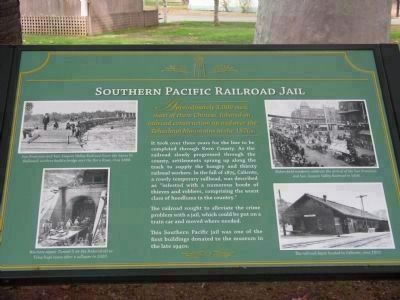 Southern Pacific Railroad Jail Marker - Kern County Museum image. Click for more information.