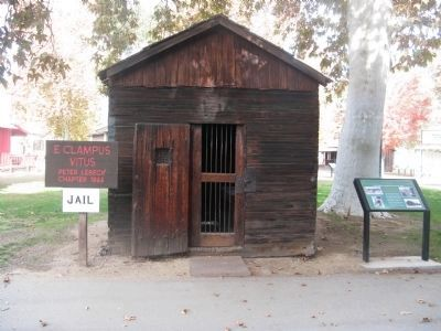 Southern Pacific Railroad Jail and Marker image. Click for full size.