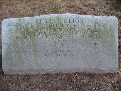 City of Shelton Emergency Services Memorial image. Click for full size.