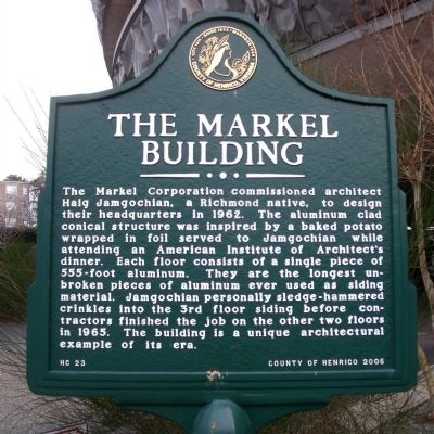 The Markel Building Marker image. Click for full size.