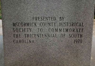 McCormick County Confederate Monument - West Side image. Click for full size.