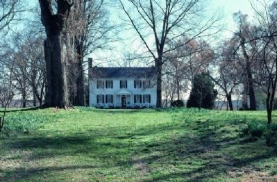 Tuckahoe Plantation House, circa 1715 image. Click for full size.