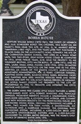 Bohls House Marker image. Click for full size.