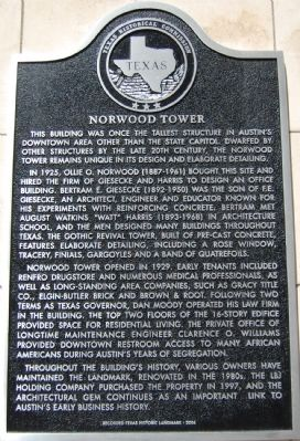 Norwood Tower Marker image. Click for full size.
