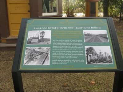 Railroad Scale House and Telephone Booth Marker image. Click for full size.