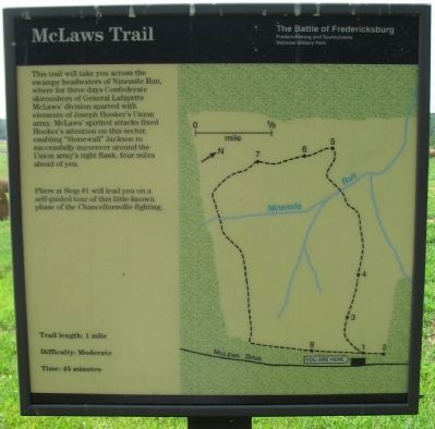McLaws Trail Marker image. Click for full size.