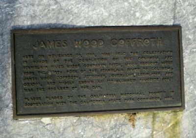 James Wood Coffroth Marker image. Click for full size.
