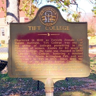 Tift College Marker image. Click for full size.
