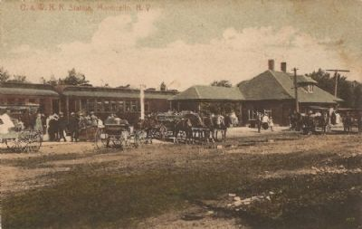 Monticello O&W Railroad Depot image. Click for full size.