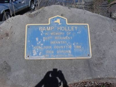 Camp Holley Marker image. Click for full size.
