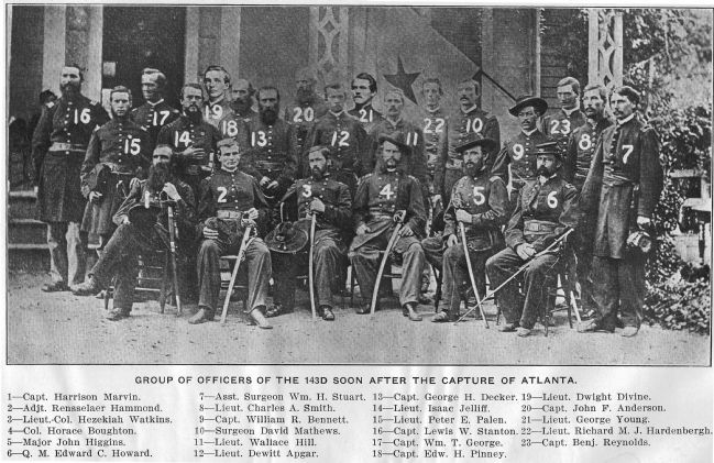 Officers of the 143rd Regiment Infantry image. Click for full size.