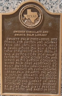 Swedish Consulate and Swante Palm Library Marker image. Click for full size.