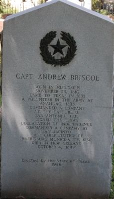 Captain Andrew Briscoe Marker image. Click for full size.