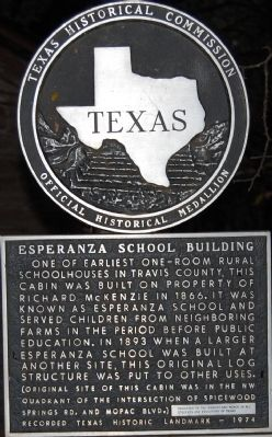 Esperanza School Building Marker image. Click for full size.