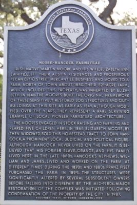 Moore-Hancock Farmstead Marker image. Click for full size.