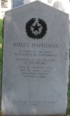 Bailey Hardeman Marker image. Click for full size.