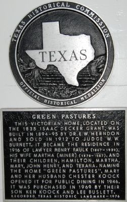 Green Pastures Marker image. Click for full size.
