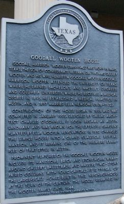 Goodall Wooten House Marker image. Click for full size.
