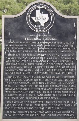 Texas in the Civil War – Federal Forces Marker image. Click for full size.