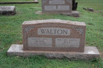 "Major William Martin ""Buck"" Walton Gravestone image. Click for full size."
